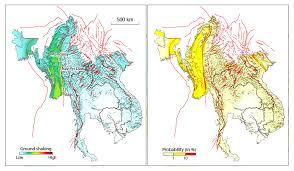 earthquake hazard map probabilistic seismic hazard assessment for myanmar initiative of