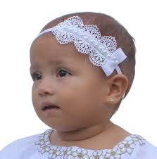 infant headbands baptism headpiece white headband lace headband baby headband
