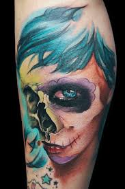 awesome skull tattoo designed by maximo lutz design of