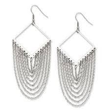 womens earrings women s stainless steel diamond shape dangle earrings jewelry