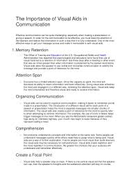 communication essay sample visual aids in communication