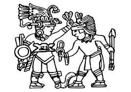 aztec warriors flower wars coloring pages bulk color
