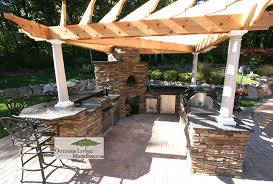 Outdoor Kitchen Designs With Pizza Oven by Custom Built Outdoor Kitchens 2008 U Shape W Pizza Oven