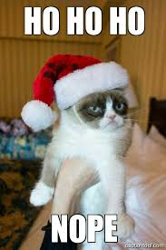 Santa Meme - grumpy santa cat ha ha ha no know your meme
