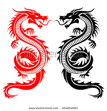 illustration traditional chinese dragon vector illustration stock