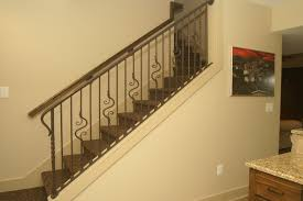 custom interior railings with hand forged details