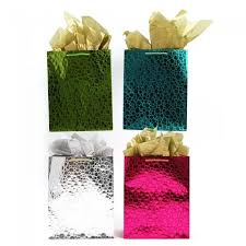 metallic gift bags large embossed brights metallic kraft gift bags