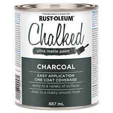 chalked ultra matte paint charcoal rona