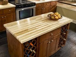 Kitchen Island With Wine Rack - mini wooden kitchen island with wine racks butcher block