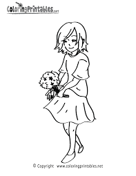 flowers coloring page a free girls coloring printable