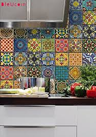 mexican tile kitchen backsplash bleucoin mexican talavera tile sticker for kitchen and