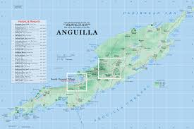 Map Of Caribbean Island by Map Of Anguilla From Caribbean On Line