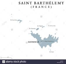 St Barts Location Map by Saint Barthelemy Political Map With Capital Gustavia Territorial