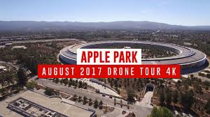apple park august 2017 drone tour 4k