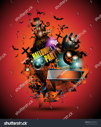 halloween party background music music band playing at halloween party stock vector funnyclay