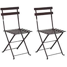 Metal Folding Bistro Chairs Amazon Com Mobel Designhaus French Café Bistro Folding Side