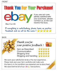 100 thank you business card for ebay seller free shipping your