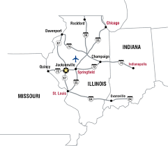 Illinois college gt admission gt campus map and directions