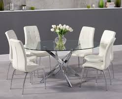 oval glass dining table 165cm oval glass dining table with calgary chairs