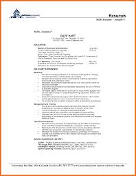 Skill Set Resume Resume Skill Set Examples