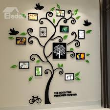 11 photo frame tree country style acrylic waterproof self adhesive