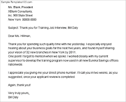 write thank you after job interview sample templates