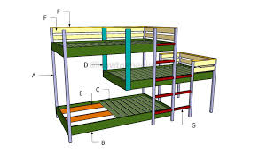 triple bunk bed plans howtospecialist how to build step by