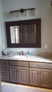 finally finished our half bath fantasy brown granite custom