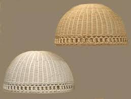 wicker lampshade dome lampshade