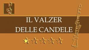 walzer delle candele clarinet guitar duet il valzer delle candele sheet