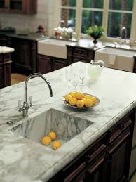 countertops undermount acrylic sink charming white marble