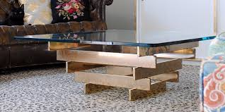 vintage brass stacked coffee table the gathered home