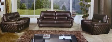 Leather Livingroom Set Clark 3 Piece Italian Top Grain Dark Brown Leather Sofa Set Usa