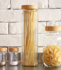 glass kitchen pasta canister kitchen canisters for dry goods