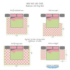 bedroom rug size bedroom