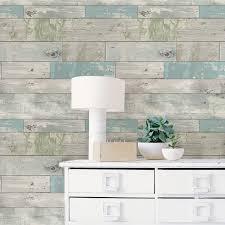 peel and stick wallpaper reviews nuwallpaper nu1647 beachwood peel and stick wallpaper amazon com