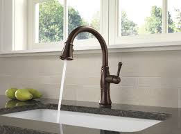 kitchen faucet bronze delta 9197t rb dst cassidy single handle pull kitchen faucet