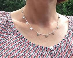 sterling charm necklace chain images Multi charm necklace etsy jpg