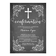 modern black frame cross confirmation invitation zazzle