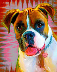 boxer dog art 250 best boxer art images on pinterest boxers dog art and animals