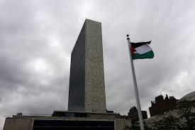 Palistinian Flag Abbas Hoists First Palestinian Flag At U N Dumps Israeli Accords