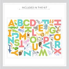 alphabet animals printed wall decal alphabet animals printed wall decal alphabet animals kit
