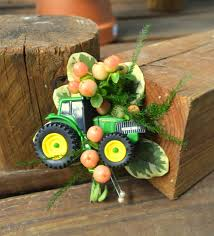 chesters flowers deere tractor wedding boutonniere from chester s flower shop