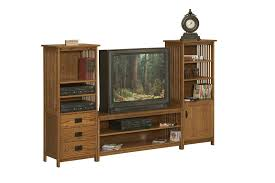 solid wood entertainment cabinet arts and crafts entertainment center with bookcases