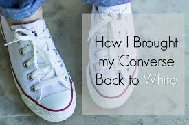 how i brought my converse back to white a pocketful of polka dots