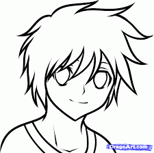 how to draw an anime boy for kids step by step people for kids