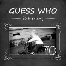 chalkboard guess who simple photo 70th birthday invitation dad u0027s
