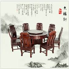 hsuan long mahogany dining table round table of african rosewood
