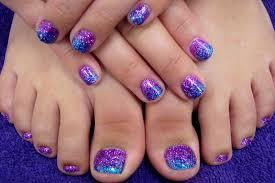 two tone glittered hand u0026 toes nail art ideas trendy modscom easy