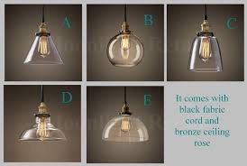 Glass Ceiling Light Fixtures New Modern Vintage Industrial Retro Loft Glass Ceiling Lamp Shade